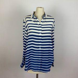 J. McLaughlin Stripe Silk Button Down